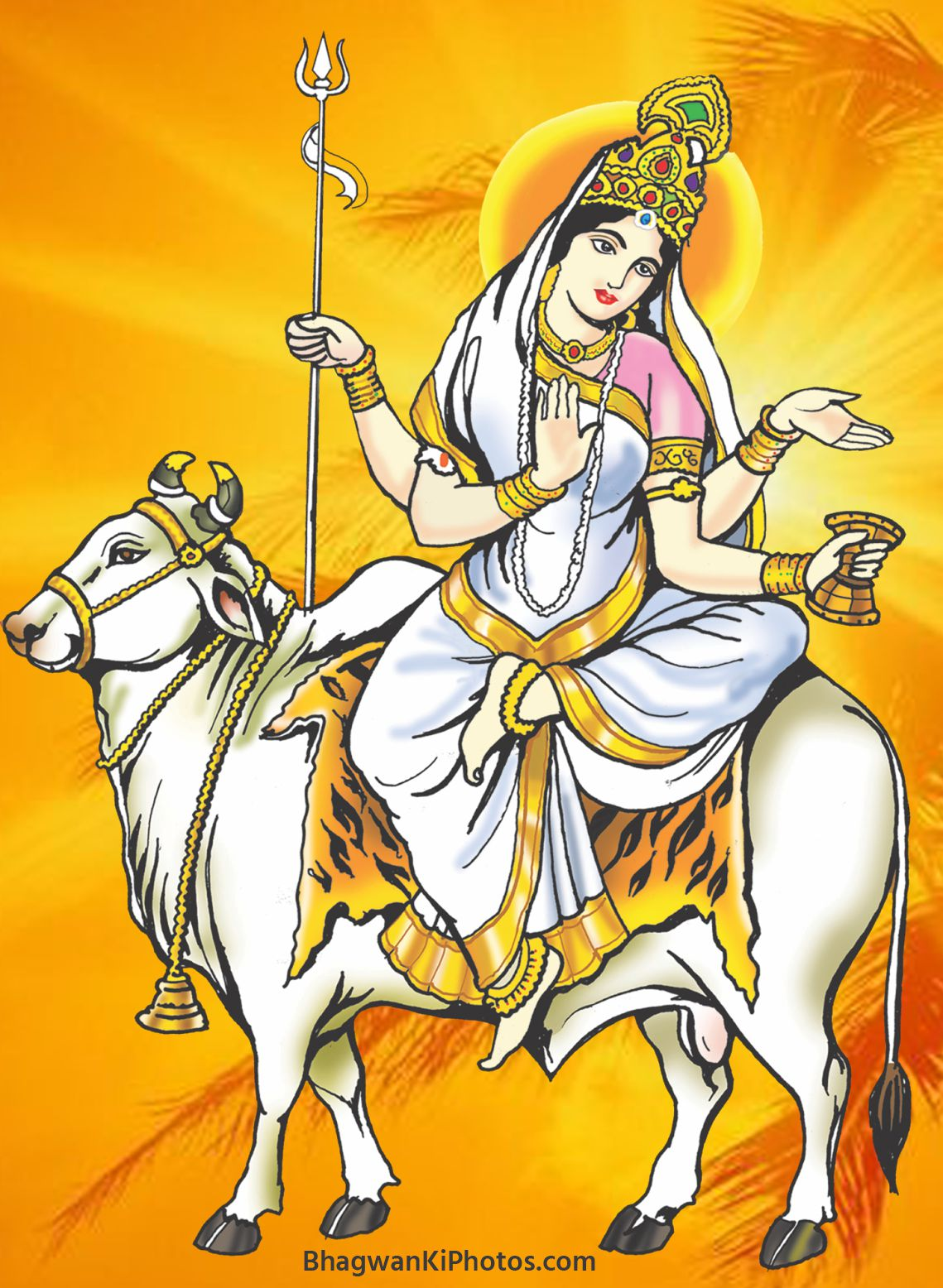 Maa Shailputri HD Photo Navratri Wallpaper