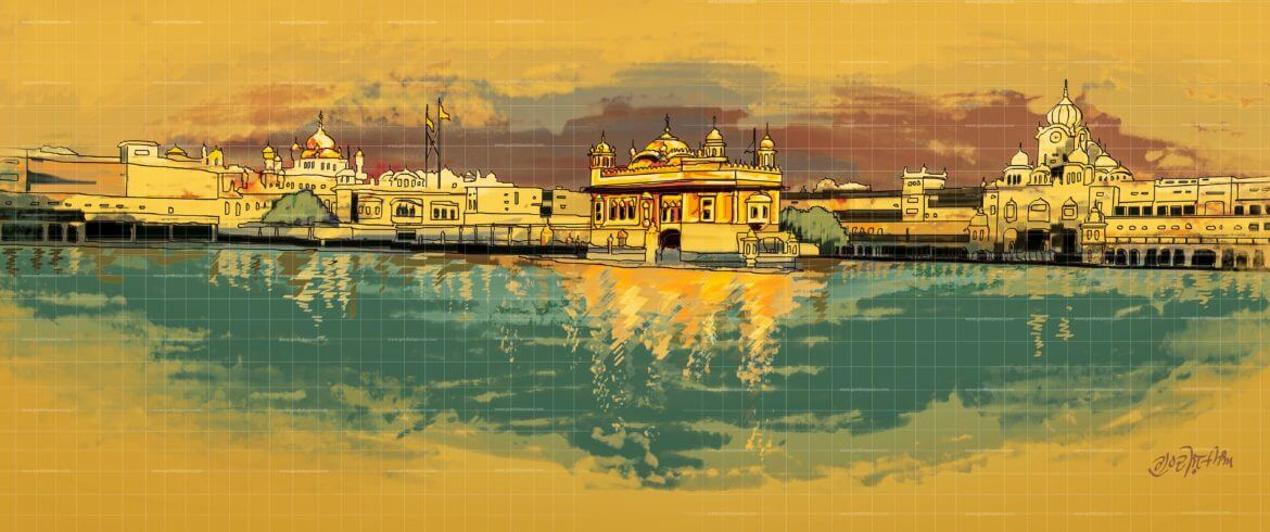 The Golden TempleSikh Painting scaled artwork download and share